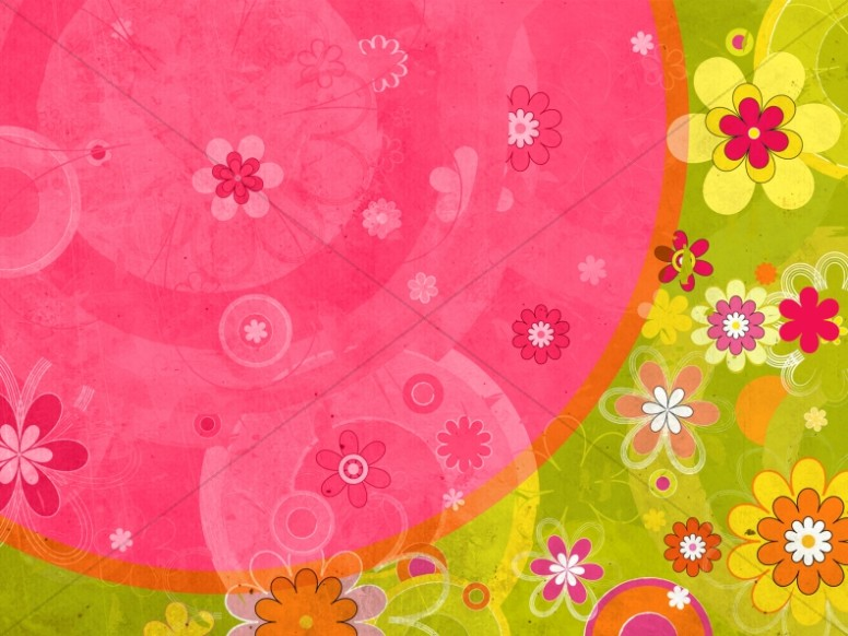 Floral Bouquet Worship Background