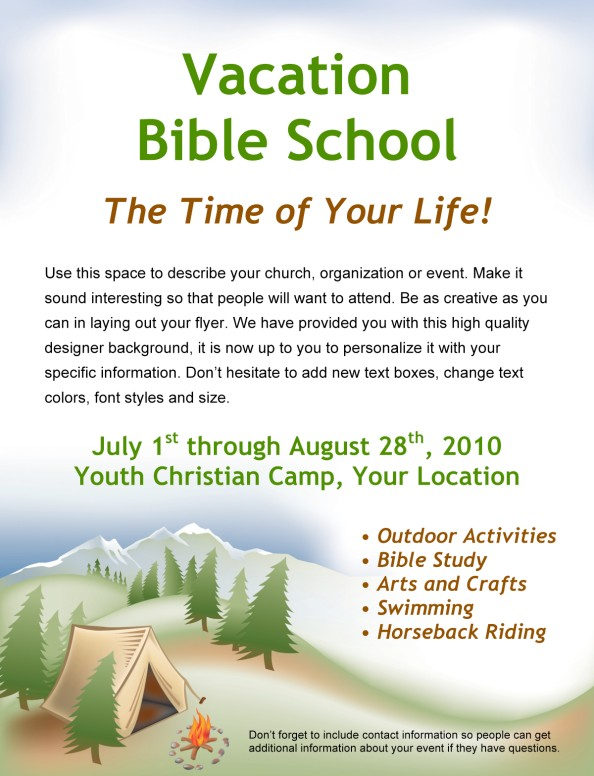 Bible Camp Flyer