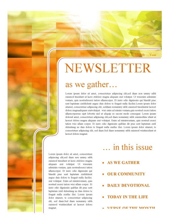 Fall Church Newsletter