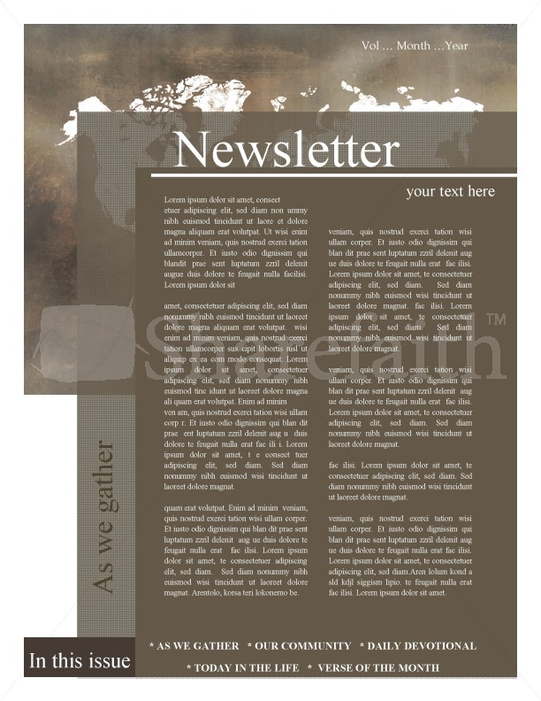Mission Church Newsletter Template Newsletter Templates - Daily newsletter template