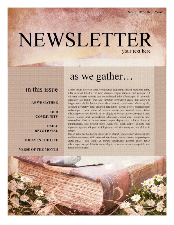 free church newsletter templates juve cenitdelacabrera co