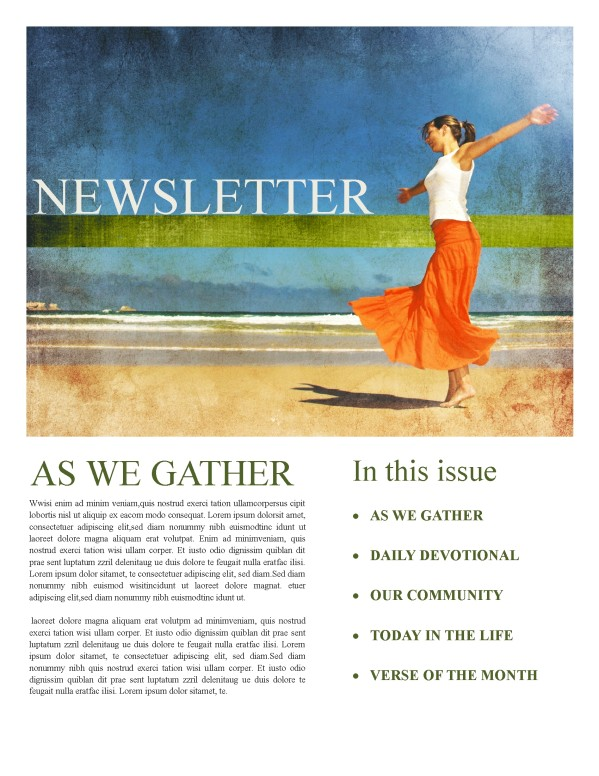 Womens Ministry Church Newsletter