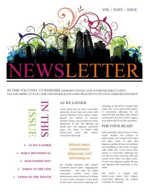 Newsletter Templates Template | Newsletter Templates