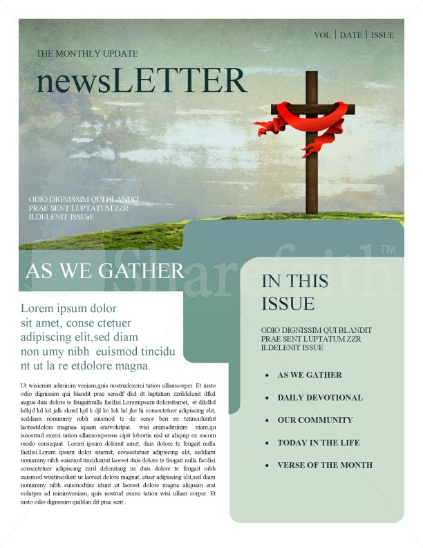 Church Newsletters Template | Newsletter Templates