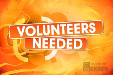 Volunteers Needed Video Loop