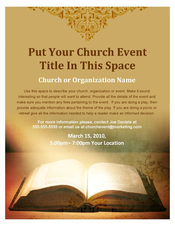 Scripture flyer for Religious flyers template free