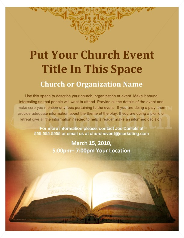 Scripture Flyer Template Flyer Templates