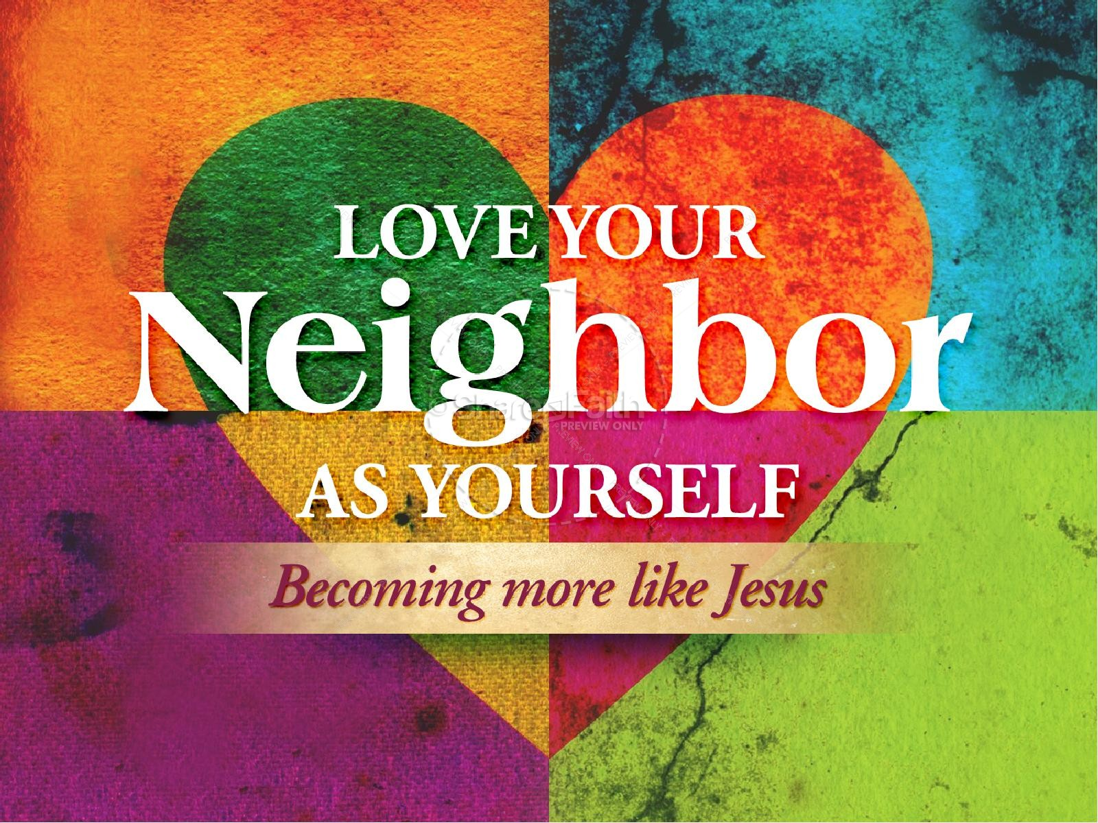 Love your neighbor as yourself powerpoint template powerpoint love your neighbor as yourself powerpoint template alramifo Image collections