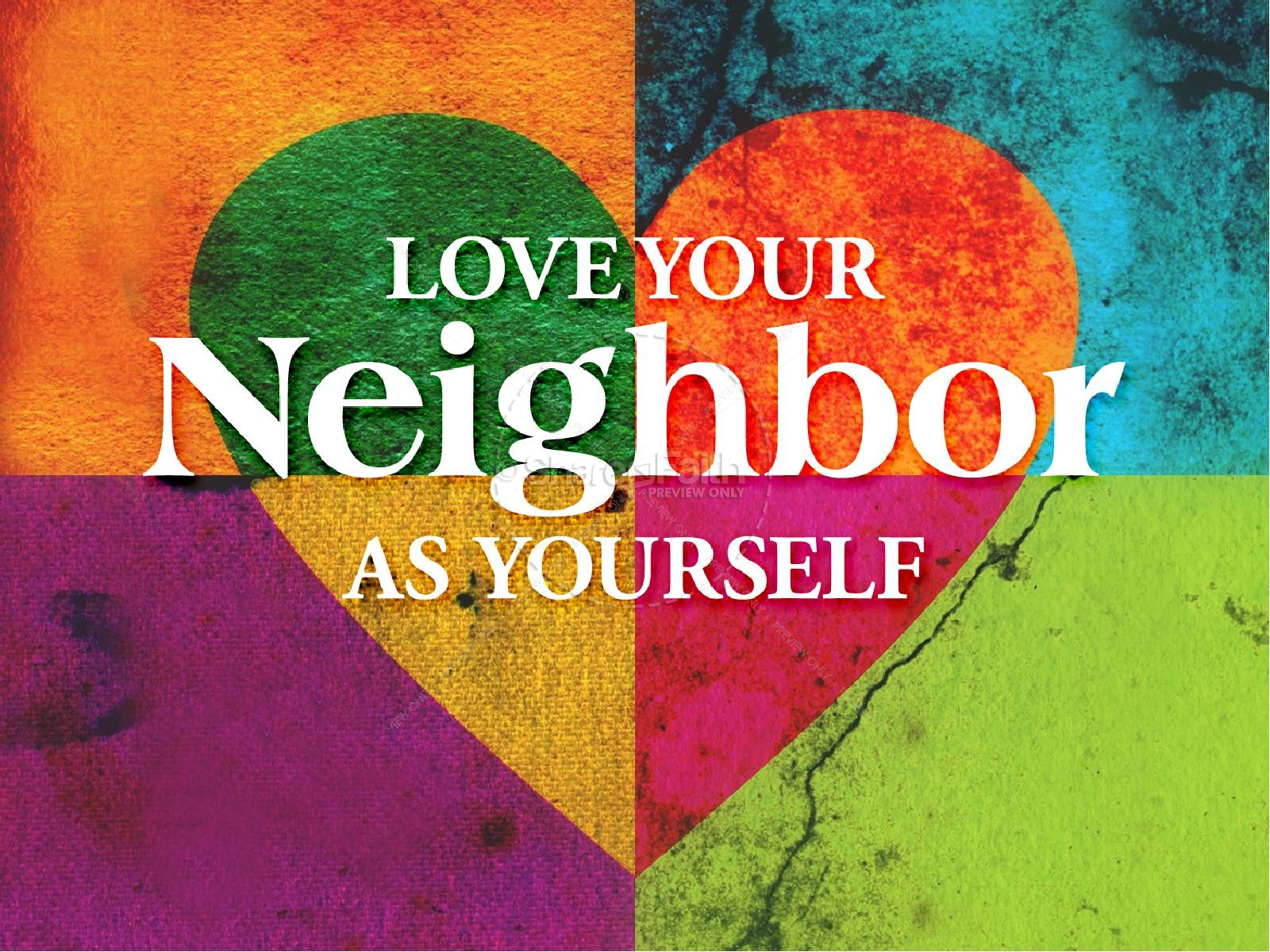 Home church powerpoint templates powerpoint sermons - Love Your Neighbor As Yourself Powerpoint Template