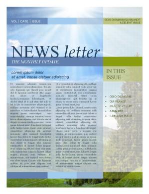 Nature Newsletter Template Template | Newsletter Templates