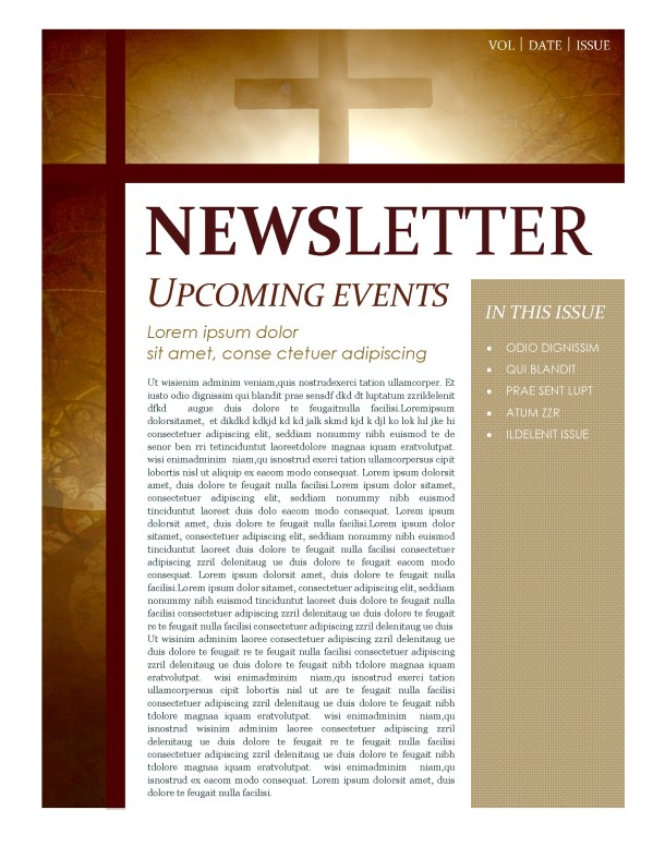 Cross Newsletter Template