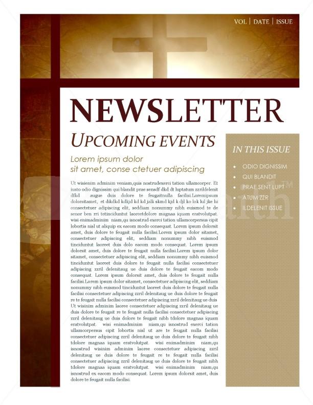 Cross Newsletter Template
