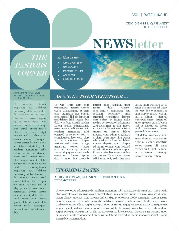 Mission Update Newsletter Template  News Letter Formats