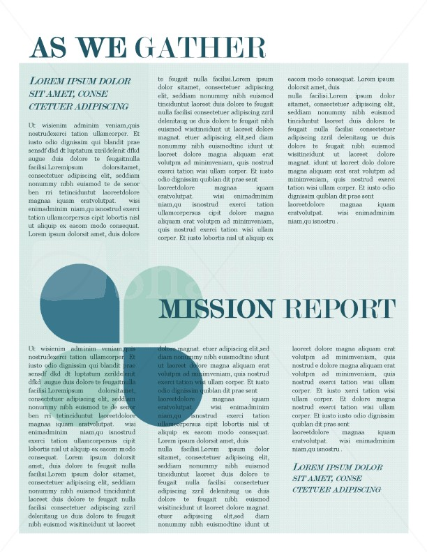 mission update newsletter template template newsletter templates. Black Bedroom Furniture Sets. Home Design Ideas