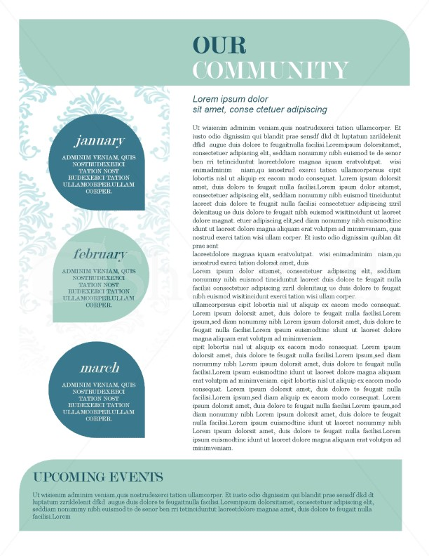 mission update newsletter template template newsletter templates