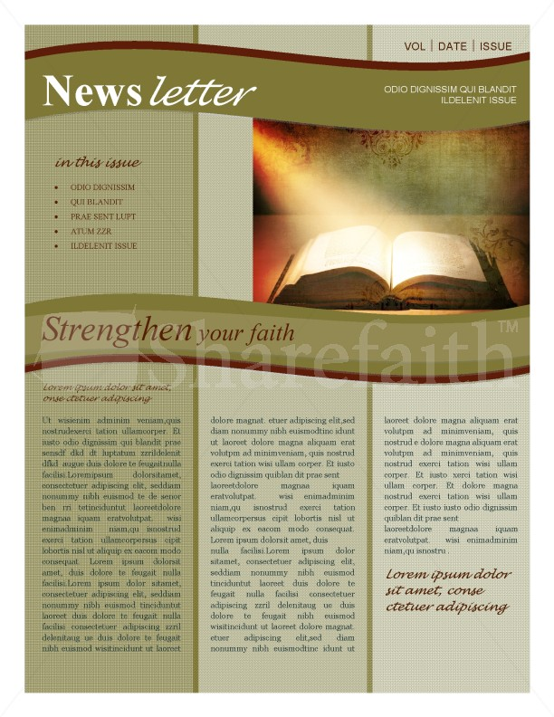 Bible Newsletter | page 1