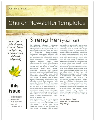 fall leaves church newsletter template template newsletter templates