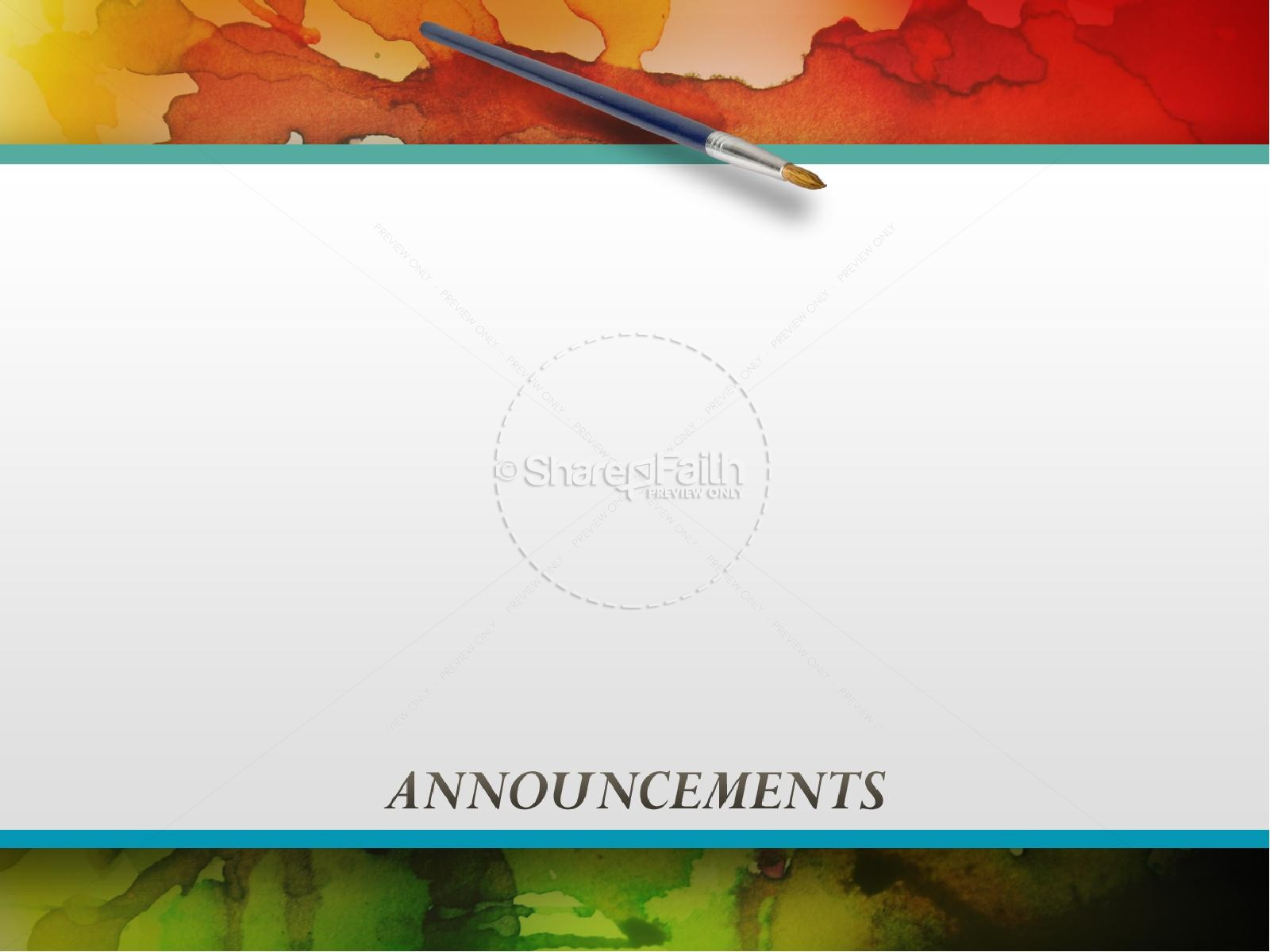 colorful powerpoint sermon template fall thanksgiving powerpoints