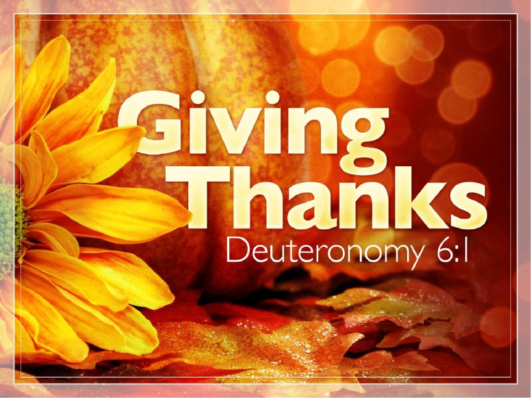Thankfulness PowerPoint Sermon Template