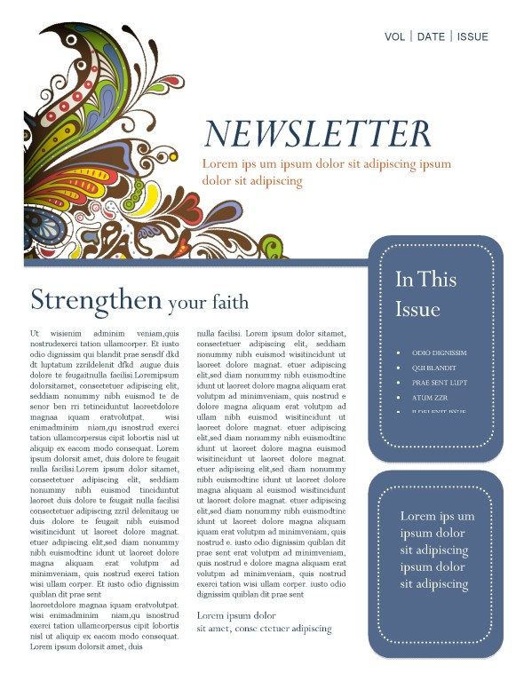 Retro Church Newsletter Template