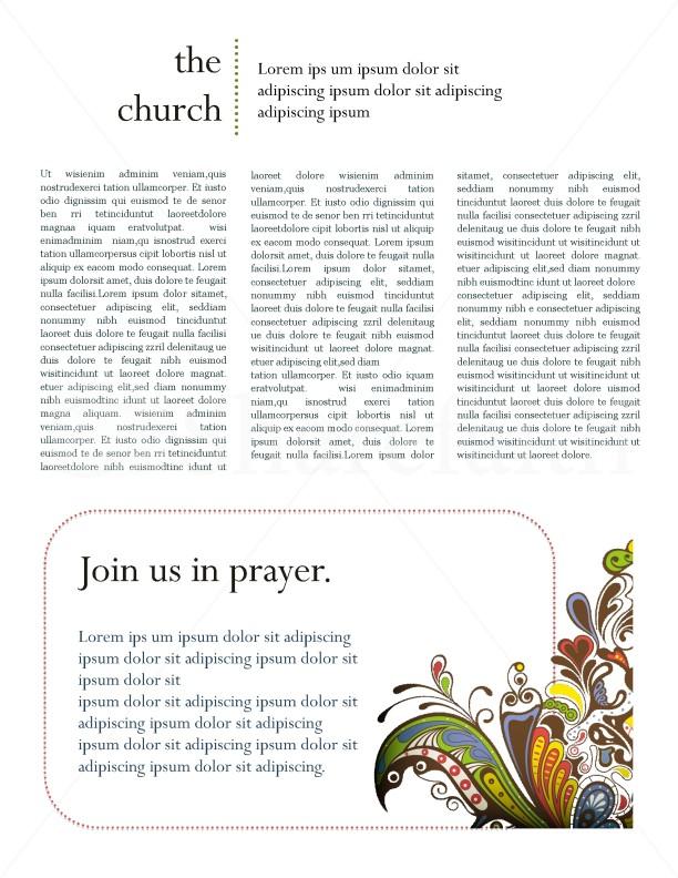Retro Church Newsletter Template