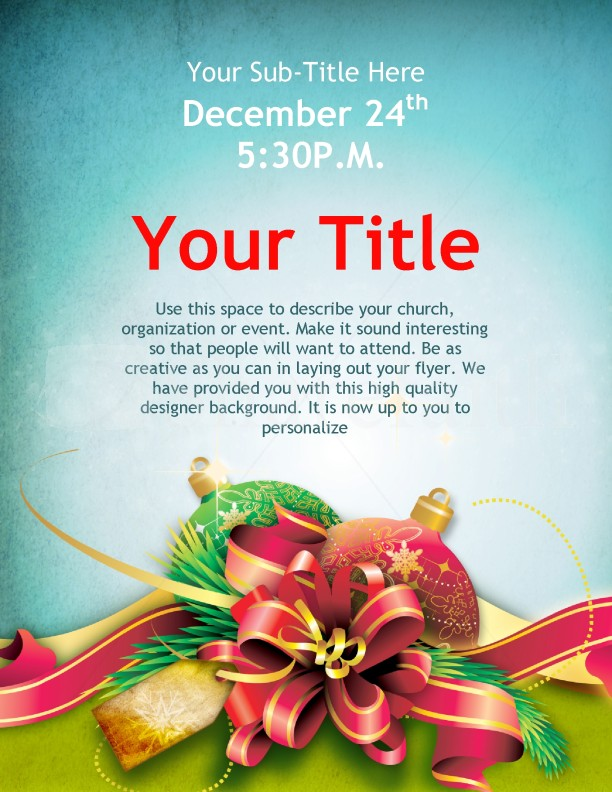 Christmas Cheer Flyer Design Template | Flyer Templates