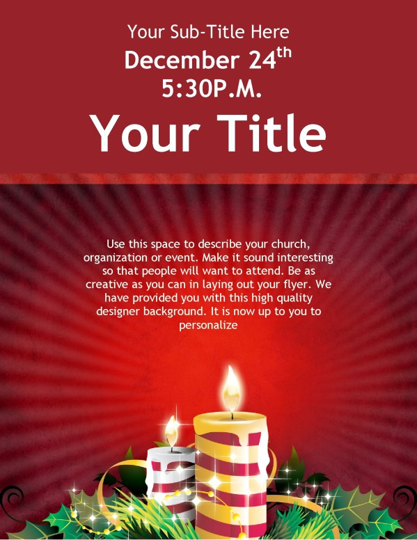 Christmas Candles Flyer Template