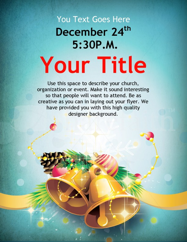 Christmas Bells Flyer Template Template Flyer Templates