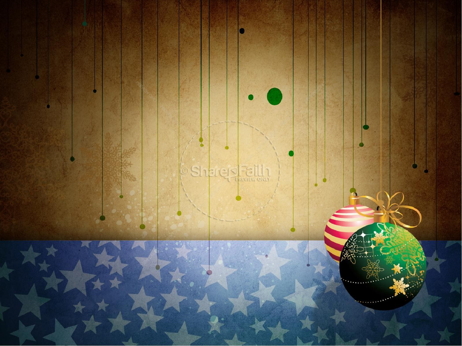 Christmas Decorations PowerPoint Template | Christmas PowerPoints