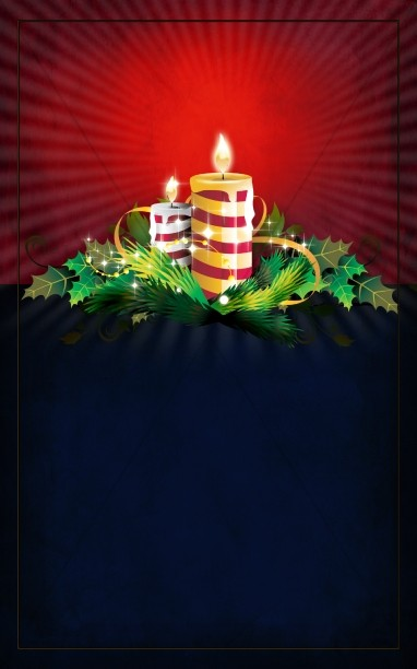 Christmas Candles Bulletin Cover