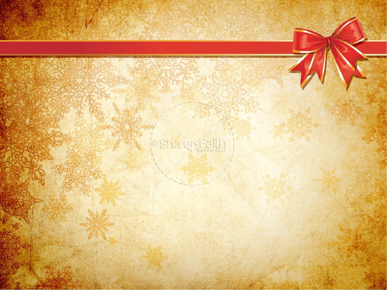 Gold Christmas Decorations PowerPoint