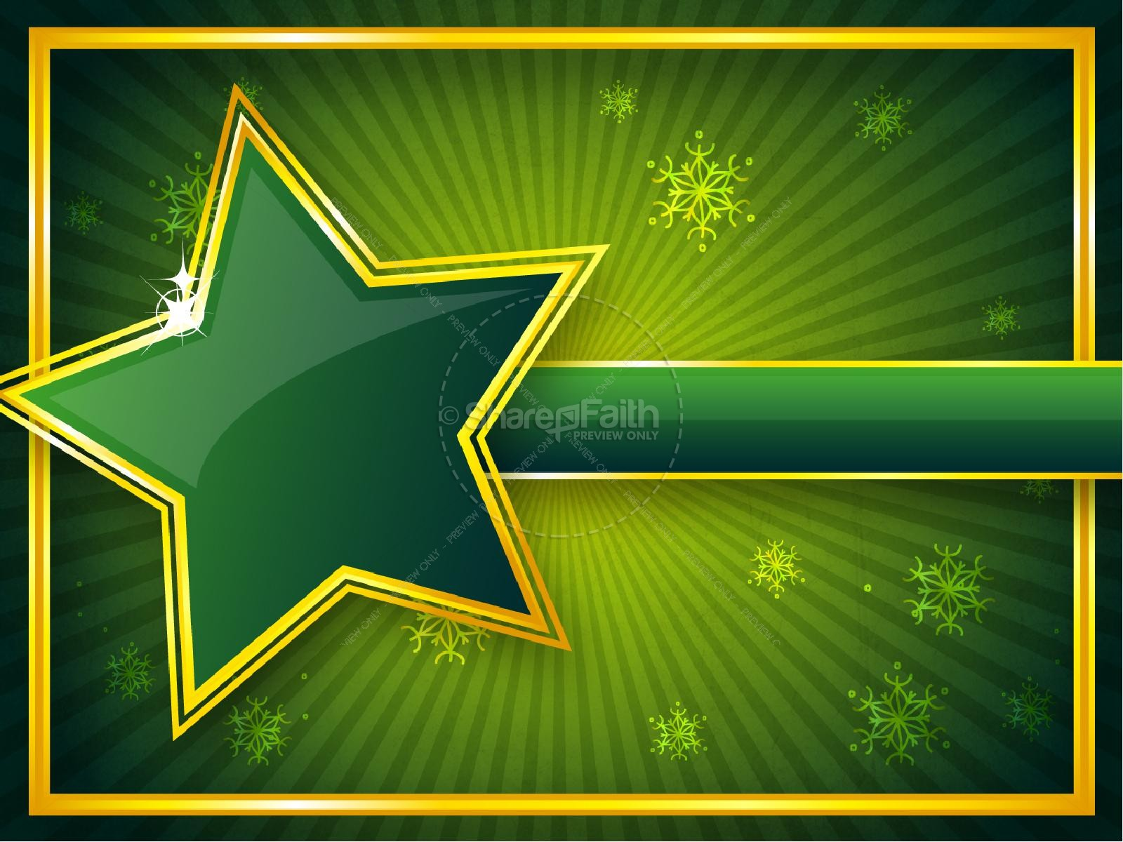 Winter Star PowerPoint Template