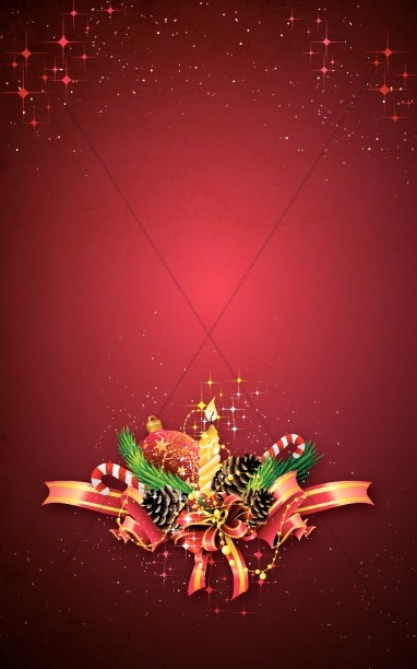 Christmas Decorations Church Bulletin Cover