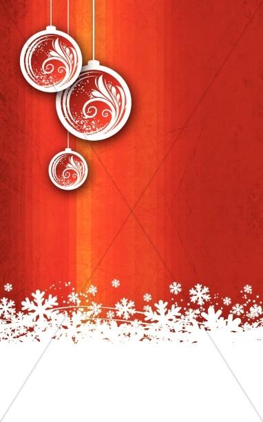Christmas Snow Church Bulletin Cover