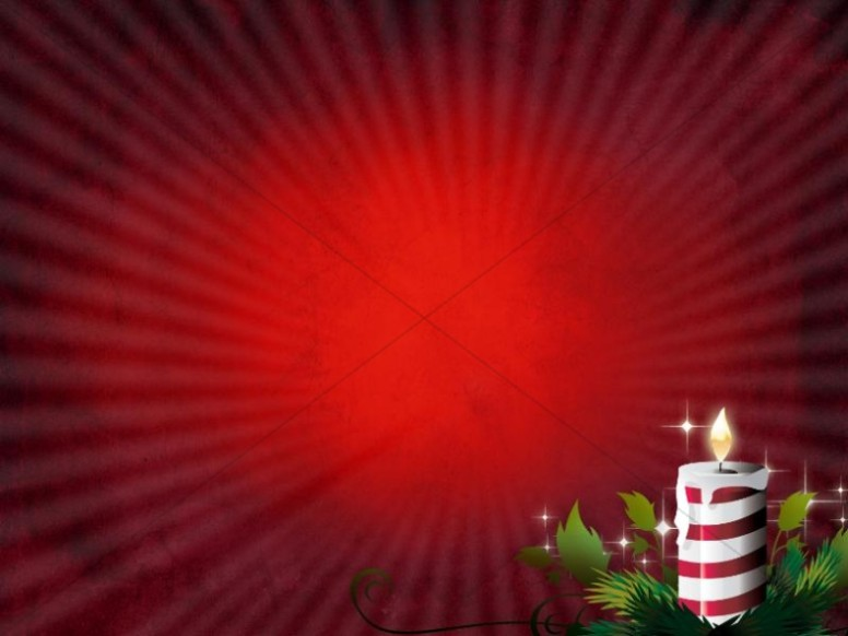 Christmas Candles Powerpoint Template | Christmas Powerpoints