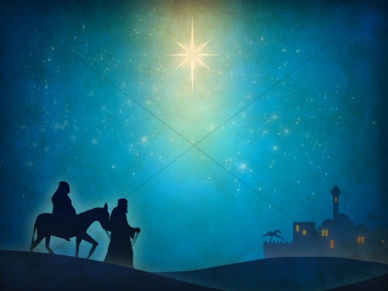 Nativity Scene Worship Background