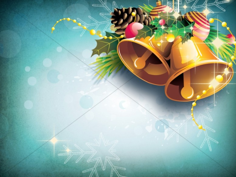 Christmas Bells Worship Background