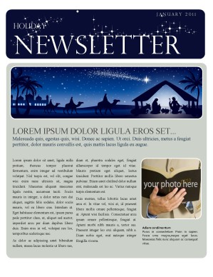 Christmas Newsletter Template Template | Newsletter Templates