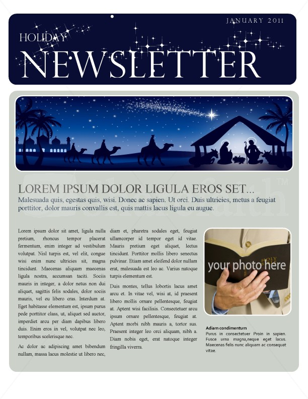 Exceptional Christmas Newsletter Template Regard To Example Of Newsletter Templates