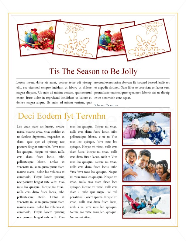 Snowflake Newsletter Template