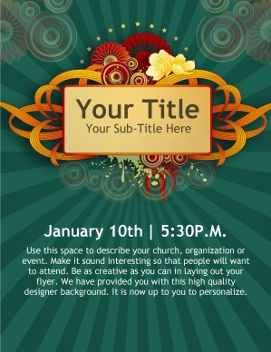 New Year Church Event Flyer Templates Template | Flyer Templates