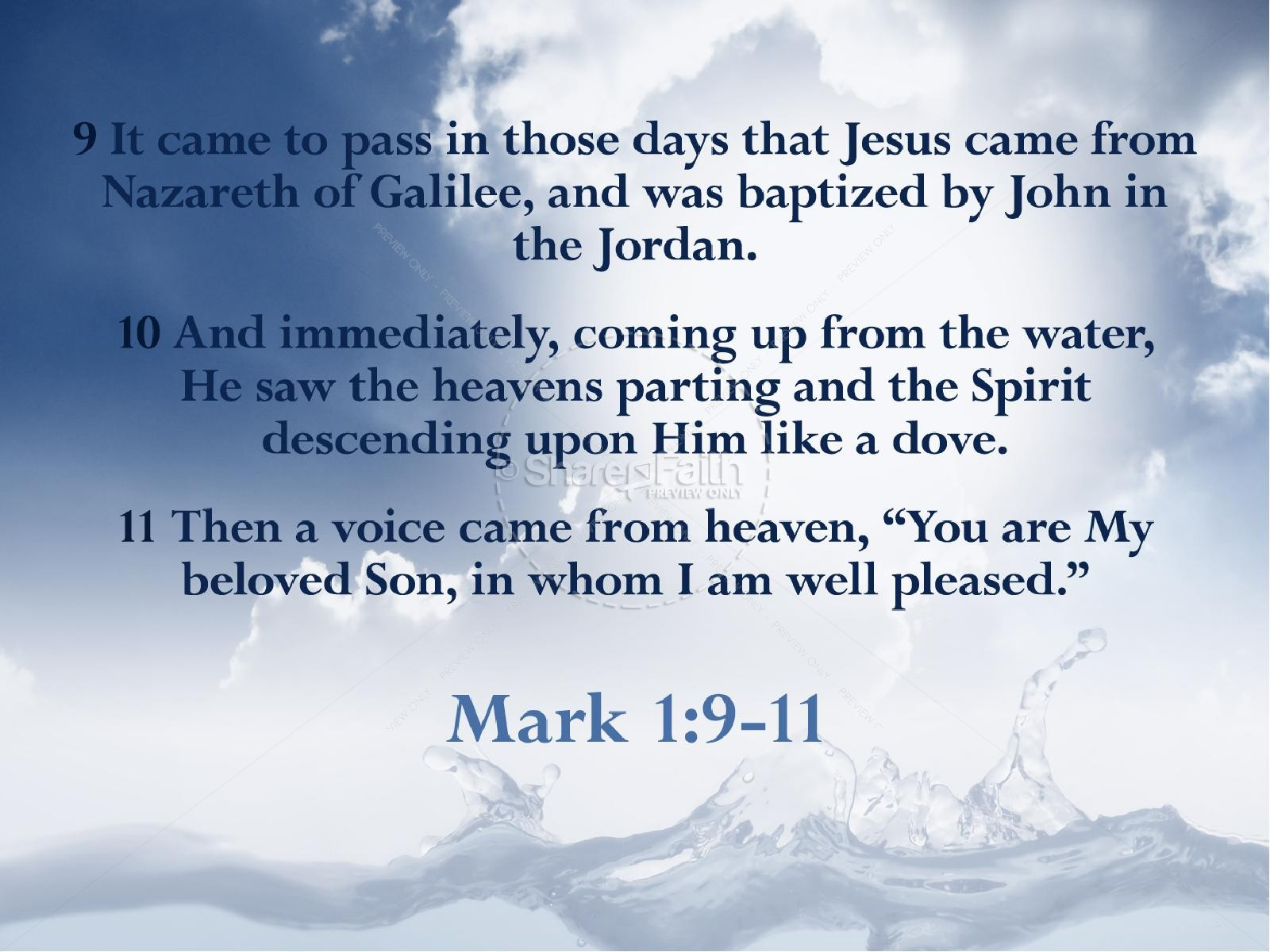 baptism of the lord jesus powerpoint slideshow church new year