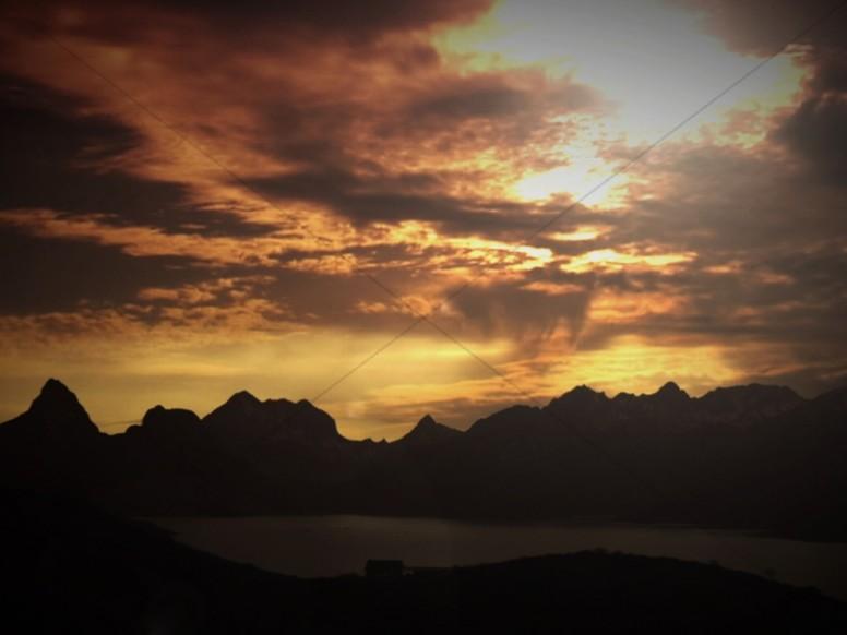 Sunset Mountains Worship Background