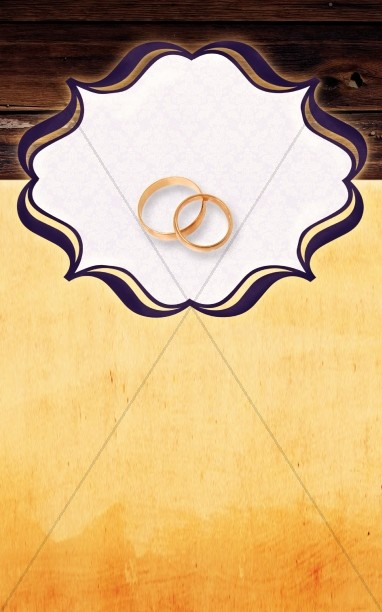 Wedding Bulletin Cover