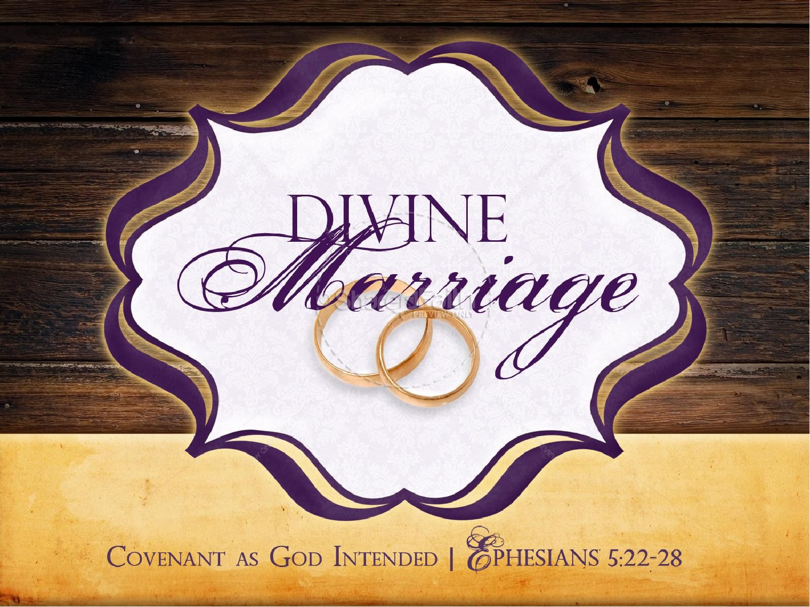 Divine Marriage PowerPoint Sermon Template