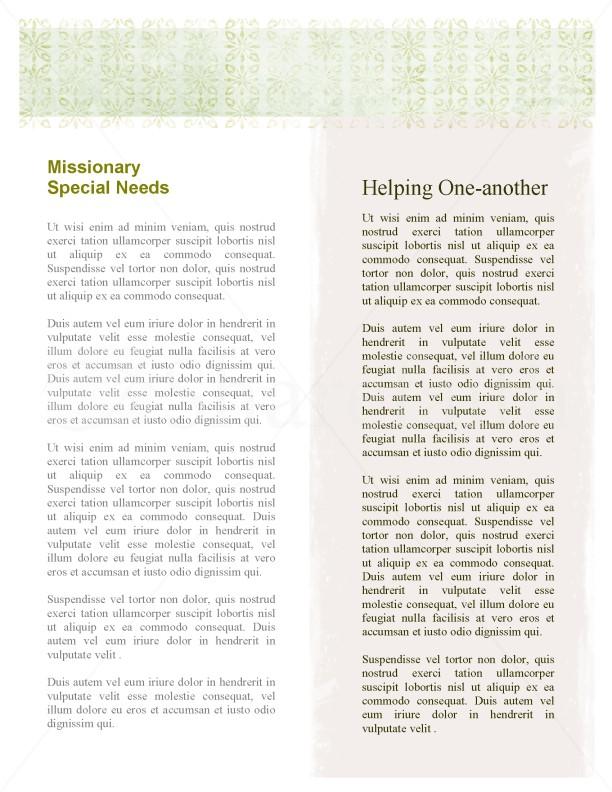 Almsgiving Church Newsletter
