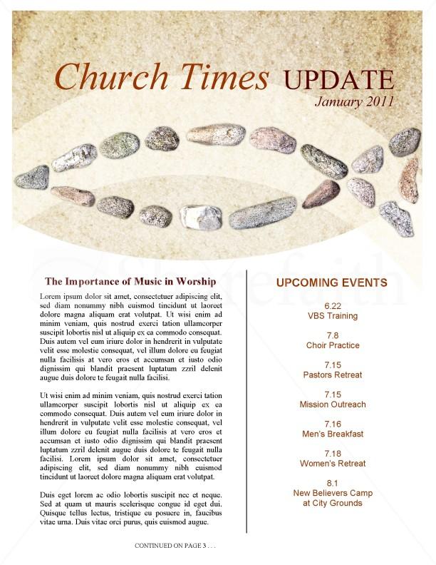 Lent Church Newsletter Template