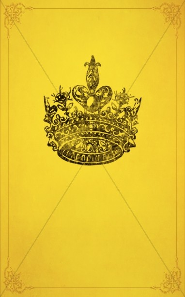 Golden Crown Bulletin Cover Template