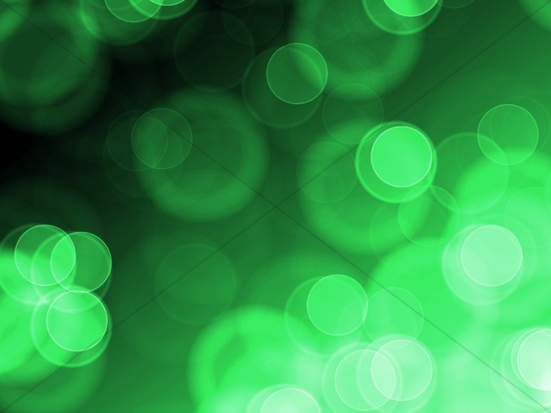 Green Circles Easy Worship Backgrounds