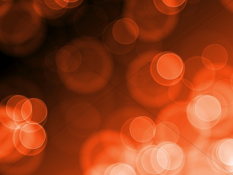 Orange Circles Bokeh Worship Backgrounds